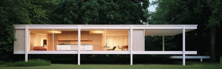 Mies created for Dr. Edith Farnsworth from 1945-51 a one room weekend retreat that is widely recognized as an iconic masterpiece of modernist architecture.